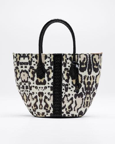 Latifa Leopard-Print Tote Bag