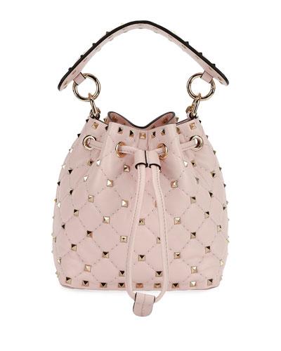 Rockstud Spike Mini Bucket Bag