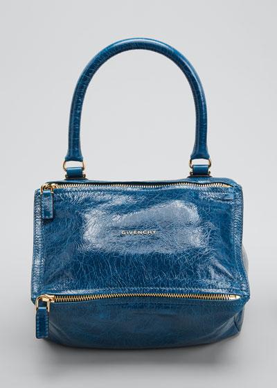 Pandora Small Leather Shoulder Bag  Blue