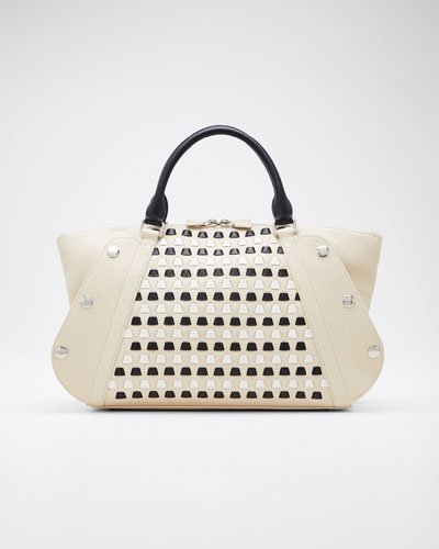 Aimee Small Cervo Woven Satchel Bag