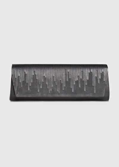 Anouk Small Suede Clutch Bag