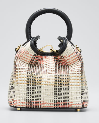 Marchita Raffia Madeleine Mini Tote Bag