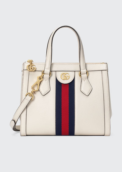 Ophidia Small Leather Tote Bag