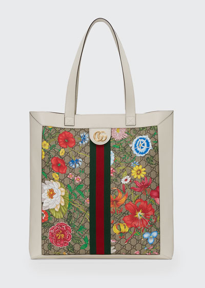 Ophidia Large GG Flora Tote Bag