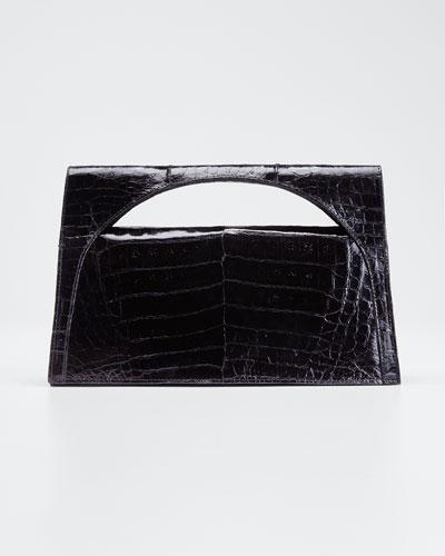 Sammy Small Keyhole Crocodile Clutch Bag