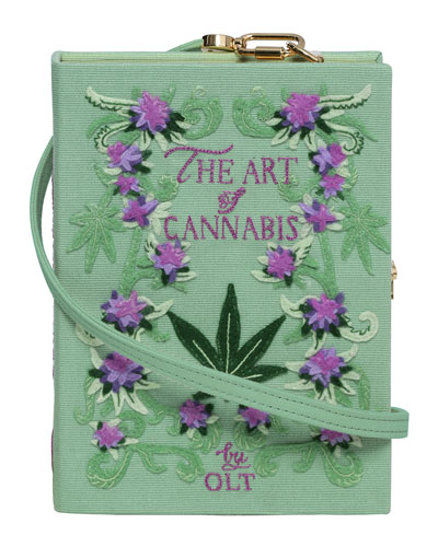 The Art Of Cannabis Strapped Book Clutch Bag