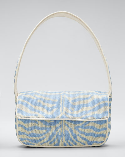 Tommy Two-Tone Beaded Shoulder Bag