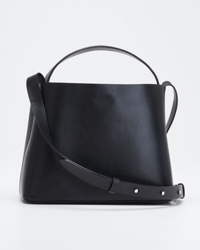 Leather Mini Sac Crossbody Bag  Black