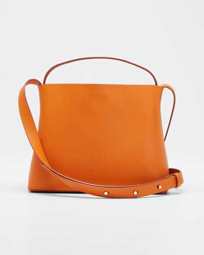 Leather Mini Sac Crossbody Bag  Orange