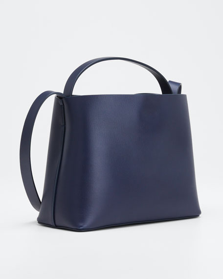 Leather Mini Sac Crossbody Bag, Navy