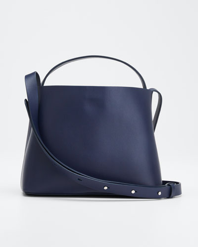 Leather Mini Sac Crossbody Bag  Navy