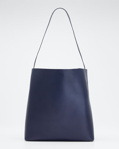 Soft Leather Sac Tote Bag  Navy