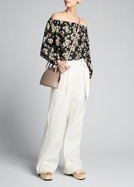 Millefoglie M Mini Leather Top-Handle Bag