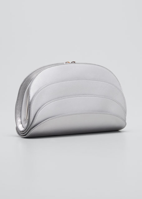 Millefoglie C Leather Clutch Bag
