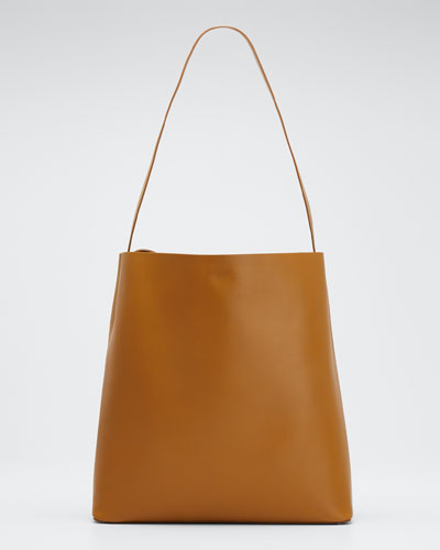 Soft Leather Sac Tote Bag  Light Brown