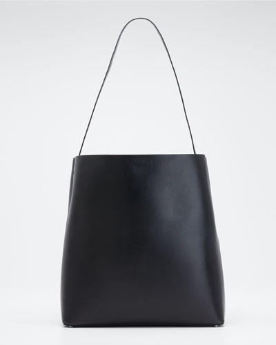 Soft Leather Sac Tote Bag  Black