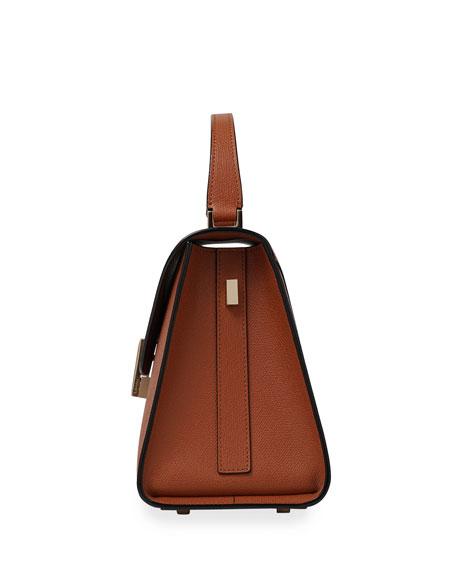 Iside Leather Top-Handle Bag