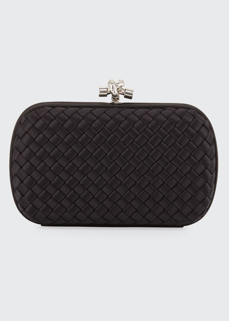 Image 1 of 1: Medium Chain Knot Satin Clutch Bag