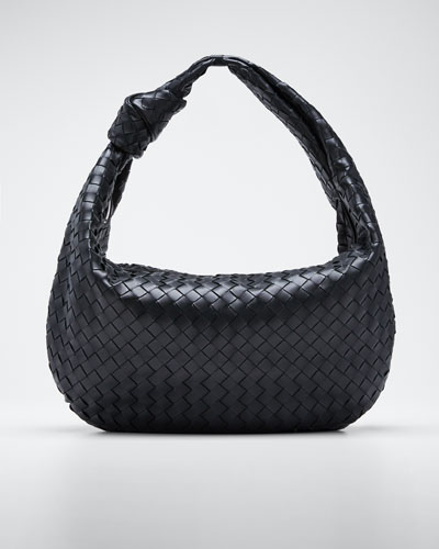 Intrecciato Woven Leather Large Hobo Bag
