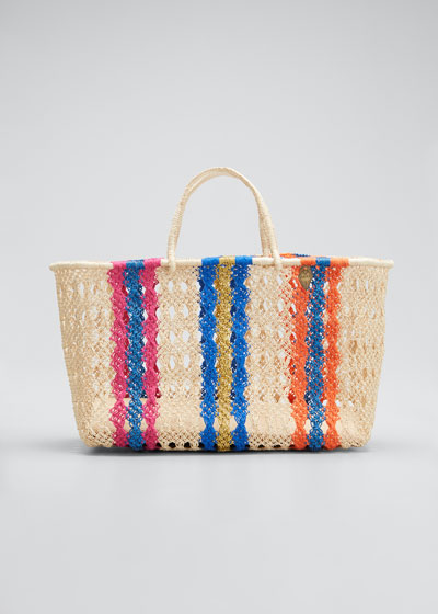 Margo Medium Striped Tote Bag
