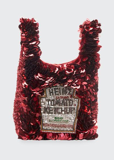 Mini Ketchup Sequins Tote Bag