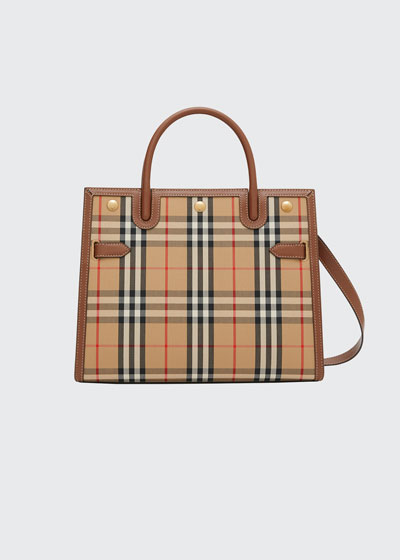 Title Small Vintage Check Tote Bag