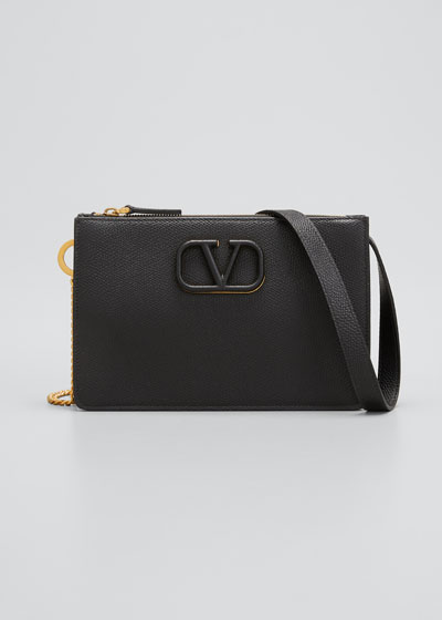 VSLING Grain Leather Pouch Bag