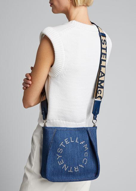 Mini Eco Denim Crossbody Bag