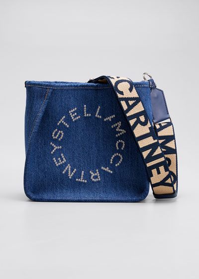Mini Eco Denim Crossbody Bag