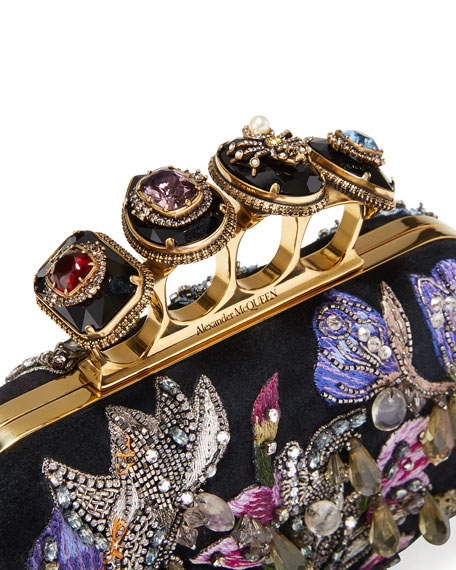 Jeweled Butterfly Box Clutch Bag