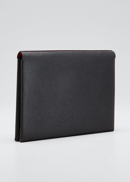 Saffiano City Pocket Clutch Bag