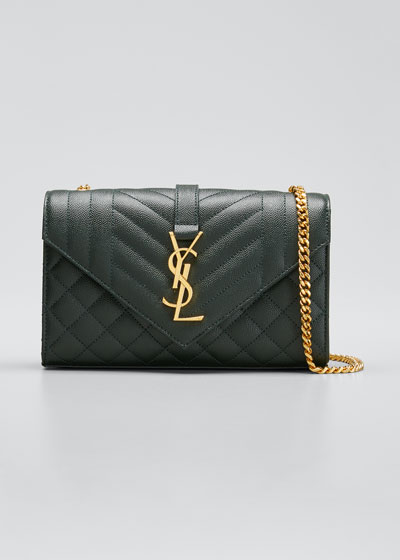 Small YSL Monogram Leather Satchel Bag