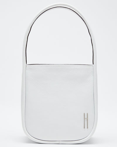 Guide Crinkled Leather Top-Handle Tote Bag