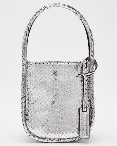 Micro Guide Metallic Top Handle Bag