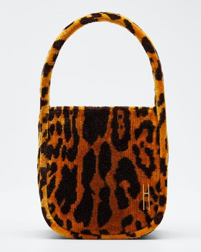 Leopard Brocade Guide Top Handle Bag