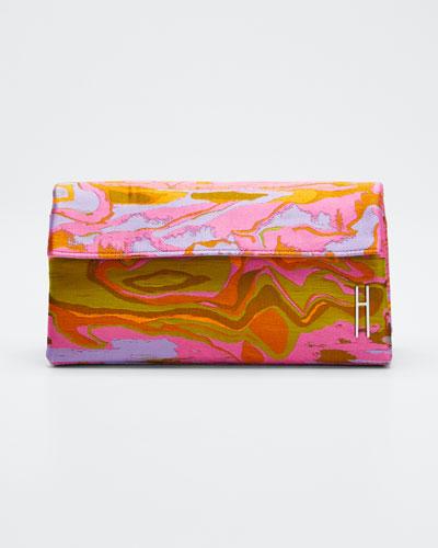 East-West Slim Clutch Bag