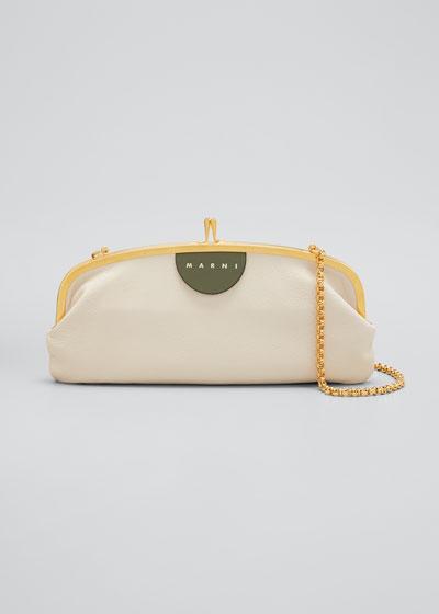 Kiss-Lock Leather Shoulder Bag