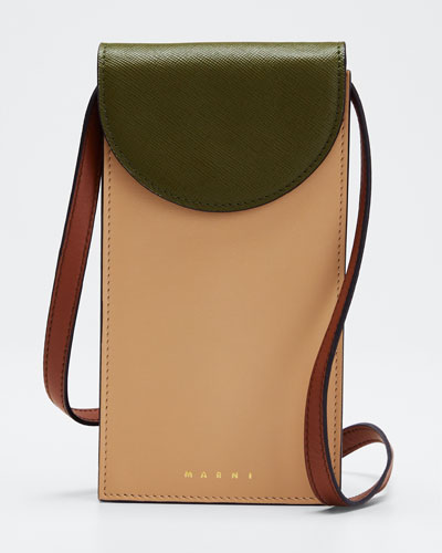 Law Leather Crossbody Phone Bag