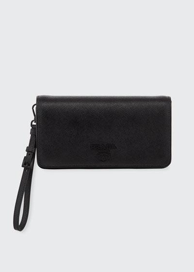 Saffiano Mini Bag w/ Removable Wristlet and Crossbody Straps