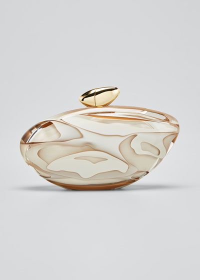Armonia Small Pearly Clutch Minaudiere