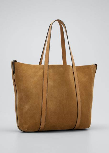 Reversible Suede & Leather Tote Bag