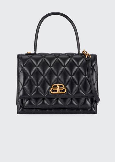 Sharp Medium AJ Quilted Top Handle Bag