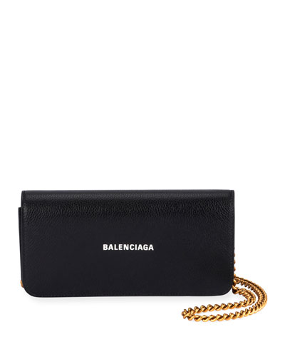 Cash Continental Wallet On Chain  Black/White