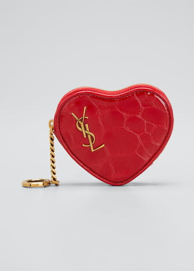 Heart Shaped YSL Zip Pouch Wristlet