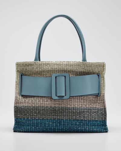 Bobby Gradient Raffia Tote Bag