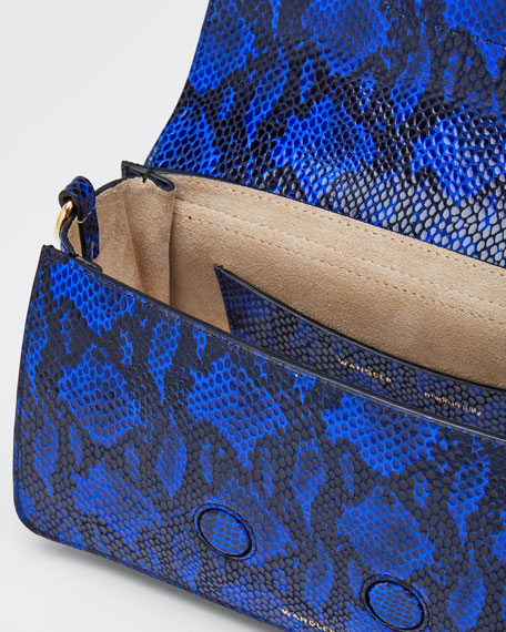 Georgia Magic Python-Print Leather Shoulder Bag