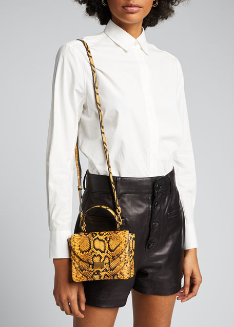 Magic Python-Print Shoulder Bag