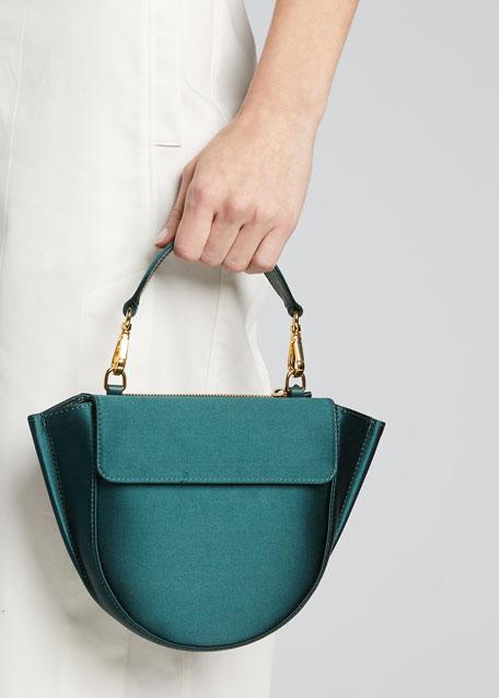 Hortensia Mini Satin Top-Handle Bag