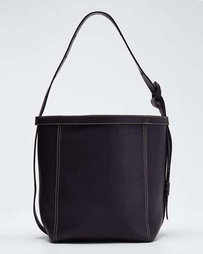 Leather Tonne Hobo Bag