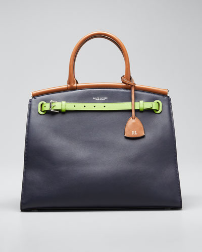 Colorblock Large RL 50 Satchel Bag